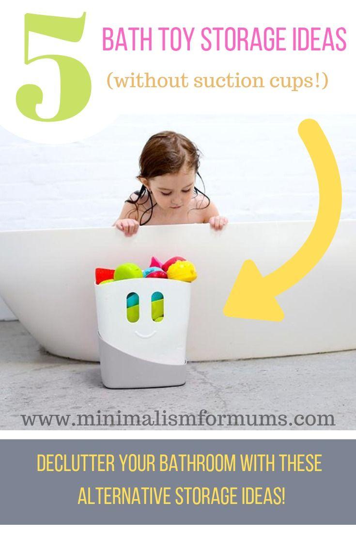 5 Bath Toy Storage Ideas Without Suction Cups Bath Toy Storage Toy Storage Solutions Bathroom Toy Storage