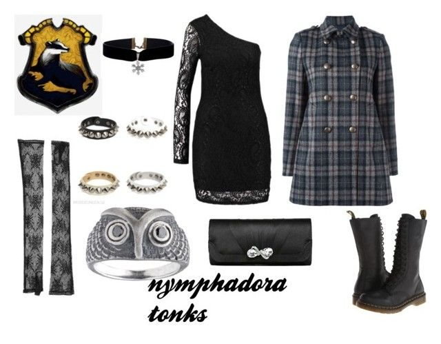 """""""tonks party dress"""" by marauderslife on Polyvore featuring Gucci, Aspesi, MDKN and Dr. Martens"""