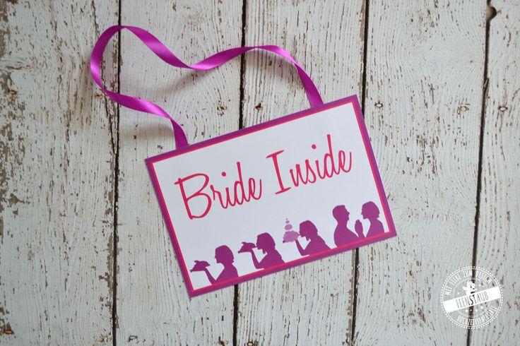 Bride inside Schild für die Hochzeit, Zeremonie, Kirchenheft, Trauungsprogramm - Feenstaub.at
