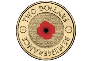 'Red Poppy' Remembrance Day Coin - Australia