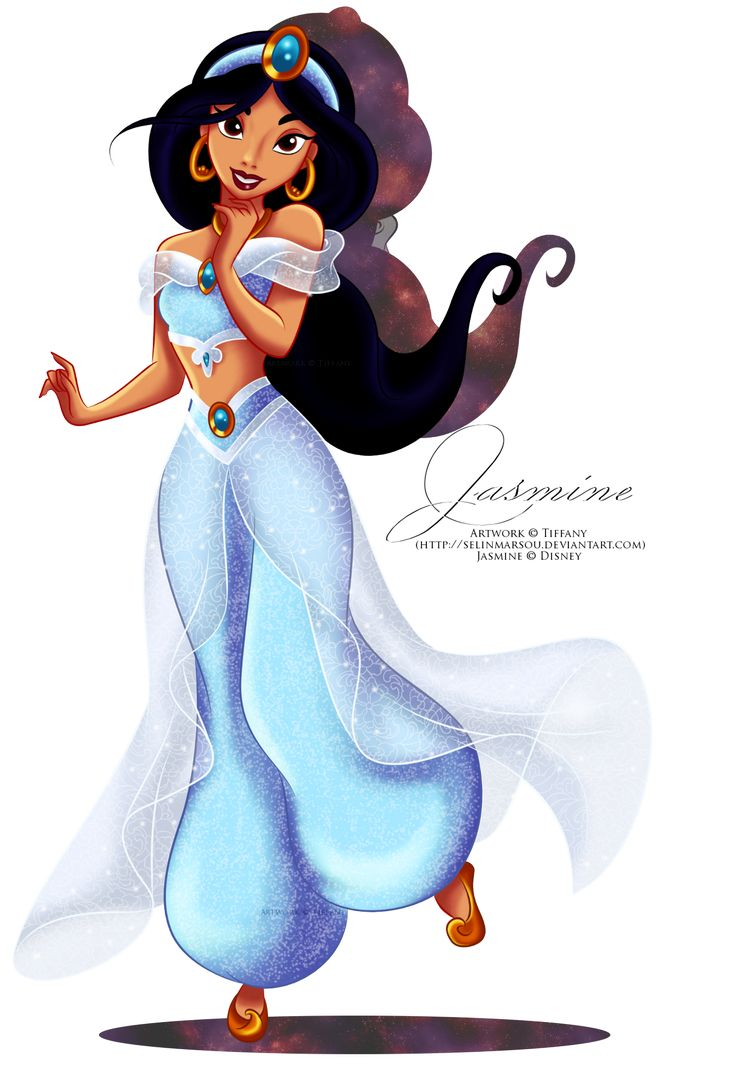 Jasmine cartoon princess jasmine new outfit by selinmarsou jasmine - Princesse jasmine disney ...