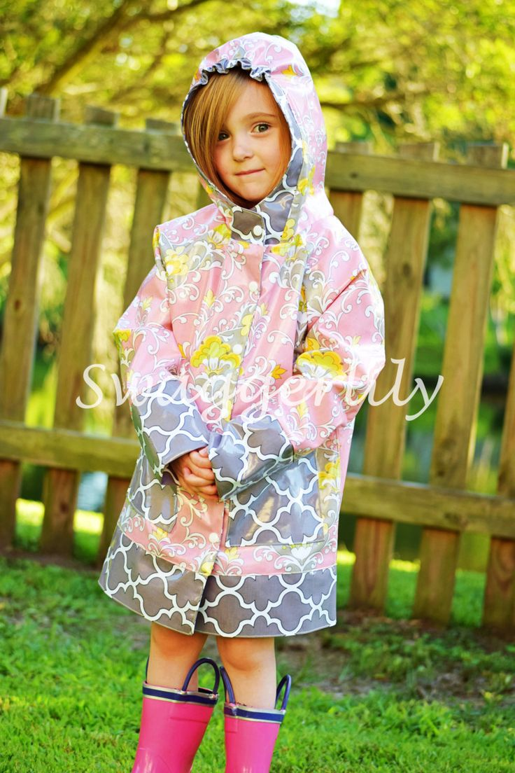 Children's Raincoat with Stay-Put Hood - pinned by pin4etsy.com