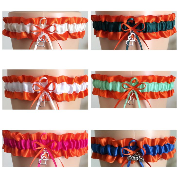 Orange Wedding Garter, Orange Bridal Garter, Orange Bridesmaid Garter, Prom Garter, Orange Weddings, Custom Wedding