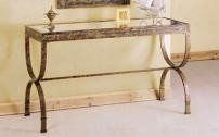 #Vanessa collection console table is the perfect choice for a transitional dining room you use for everyday celebrations. Gorgeous Egyptian style metal base and ...