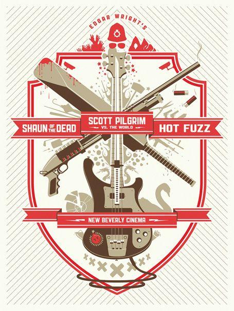 Edgar Wright Triple Bill Poster | Designer: DKNG Studios - http://www.dkngstudios.com/