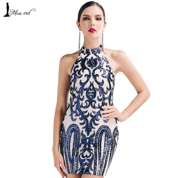 Missord 2016 Sexy O-neck sleeveless Retro pattern sequin dress FT4729-A   Diva's fashion store