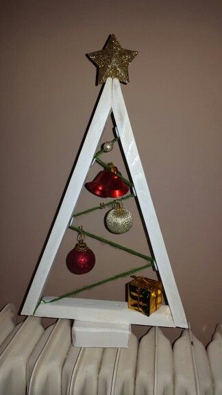 Little wooden tree with ornaments