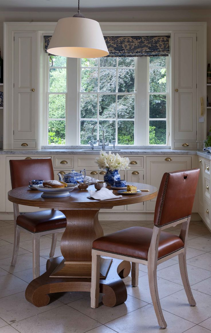 Douglas round dining table rustic finish achica - Soane Britain Fox Dining Table And Grange Chairs Http Www Soane