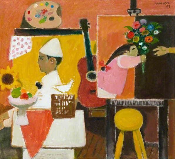 alberto morrocco paintings | ... Studio with Lay Figure, 1993 by Alberto Morrocco (Scottish 1917-1998