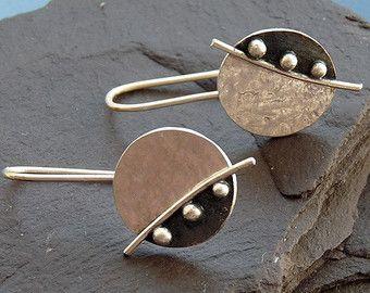 Pernos de plata pendientes de plata plata post por Kailajewellery
