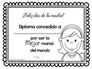 Yo amo a mamá- Diplomas