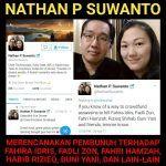 Polisi harus usut tuntas ancaman pembunuhan oleh Nathan Suwanto  JAKARTA (Arrahmah.com)  Presiden Kongres Advokat Indonesia (KAI) Tjoetjoe Sandjaja Hernanto menilai ancaman pembunuhan oleh seseorang terhadap beberapa tokoh seperti Fahira Idris Fadli Zon Habib Rizieq Dan Bun Yani adalah sesuatu yang sangat serius. Dia meminta polisi untuk segera mengusut tuntas ancaman ini sebagaimana dilansir Harian Terbit Senin (1/5/2017). Selain itu Wakil Ketua DPR Fadli Zon yang namanya termasuk yang…
