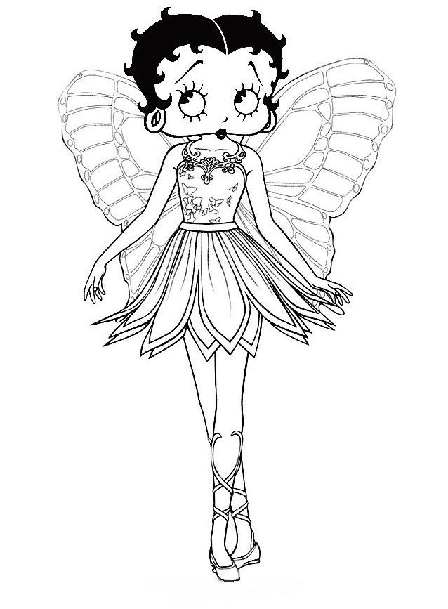 Betty Boop Barbie Coloring PagesColouring