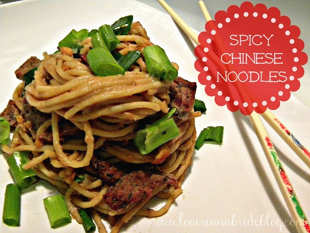 Spicy Chinese Noodles with Asian Beef | Reci-please | Pinterest ...