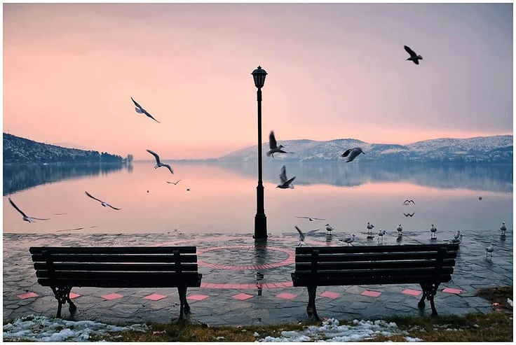 Who would you want to watch the sunset with over Lake Orestiada in Kastoria, Greece? Tag them in a comment! #Greece #Travel #GoTravel