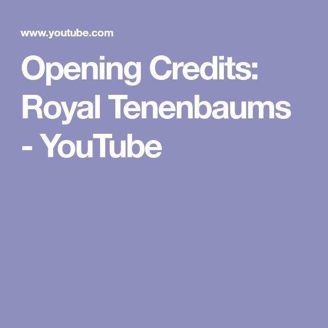 Opening Credits: Royal Tenenbaums - YouTube
