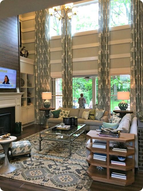 REally Nice Indianapolis Home Tour, Part 2 Two Story Room Decorating