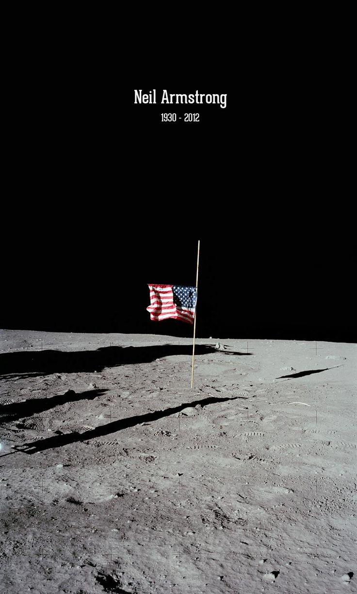 R.I.P: Apollo 11, American Flags, Armstrong Tribute, Neil Armstrong, Armstrong Graphics, Digital Art, Bjørn Myrer, Graphics Design, Tribute Posters