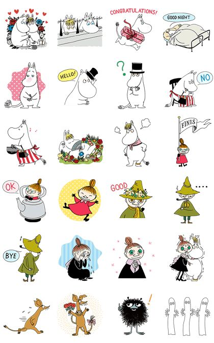 All your pals from Moomin Valley are here to add a dash of magic to your chats with this classy set of animated stickers. With Moomin, Little My, and Snufkin by your side, wonder is waiting wherever you look.