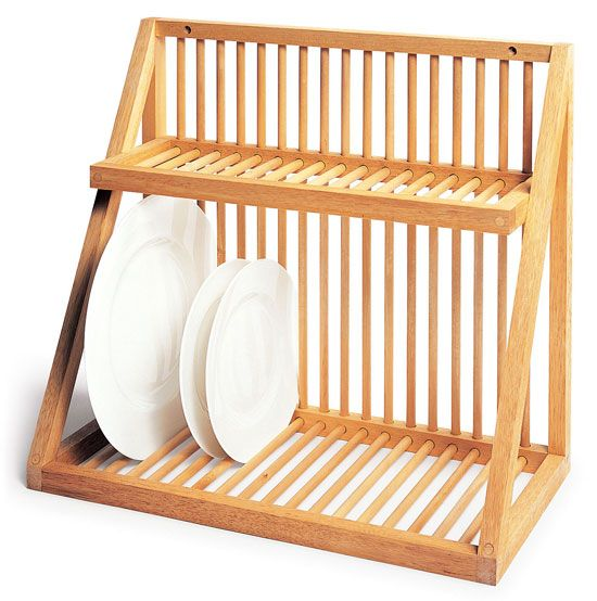 The Wall Mounted Dish Rack From UK Kitchen Shop David Mellor Is Made Of  Beech With Birch Dowels; In The US, Iowa Based Woodform Makes A Similar  Style Plate ...