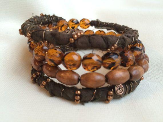 Bohemian Wrap Boho Style Multilayer Bracelet by MaryRuthForYou