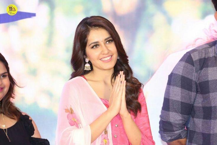 Actress Raashi Khanna At Tholi Prema Success Meet Event