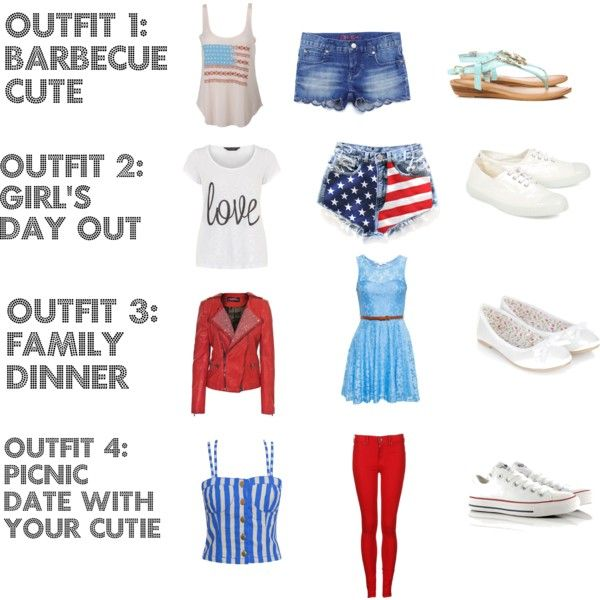 """""""Fourth of July Outfit Ideas!"""" by queenofquirk on Polyvore"""
