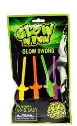 Partynelly® Glow and Fun, Knicklichter, 4 Zauberstäbe, Schwert Zauberstab, leuchtet im dunkeln, Knicklicht