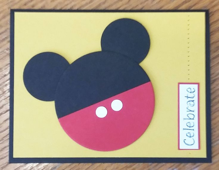 Just Posted on #etsy - Mickey Mouse Card http://etsy.me/2EABe3n #art #mixedmedia #mickeymouse #mickeymousecard #birthdaycard #greetingcard #disney