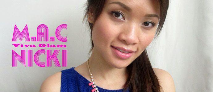 Review Son Bóng MAC Viva Glam Nicki Lipglass #review #mac #reviewsanpham #sonbong #lamdep #trangdiem