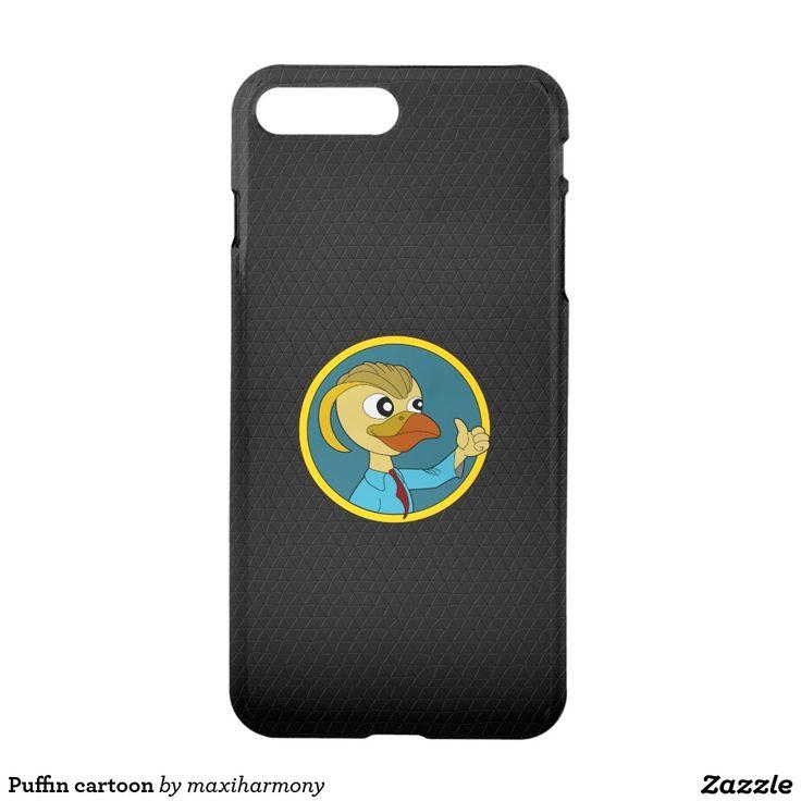 Puffin cartoon iPhone 7 plus case