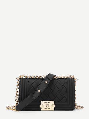 2eba131c4bd3  27 Black Chanel boy bag dupe with gold hardware
