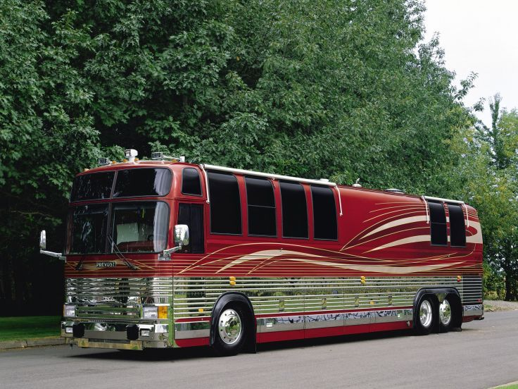 Prevost XL 40 Campers Motorhome Mobilehouse Bus Buses Wallpaper Background