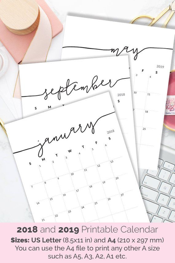 Calendrier Can 2021 Pdf Printable Calendar 2020 2021 Calendar for Frame Planner | Etsy