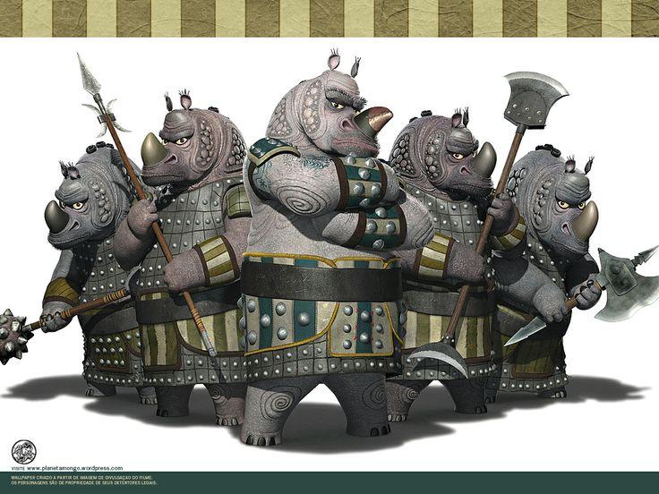 Kung Fu Panda Rhino Rhinos Clique Aqui Para Fazer O