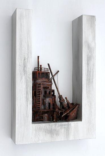 wreck 1 van Eric Cremers |  wreck 1 is het eerste werk in een nog volgende serie scheepswrakken