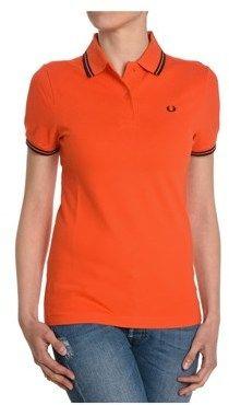 Fred Perry Women's Orange Cotton Polo Shirt.