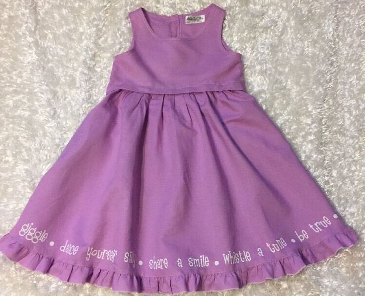 Matilda Jane Hemingway Dress Good Hart Linen Blend Lavender Size 10 #MatildaJane