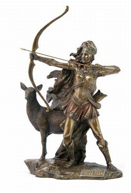 Greek Goddess Bow and Arrow | GREEK GODDESS ARTEMIS STATUE ...