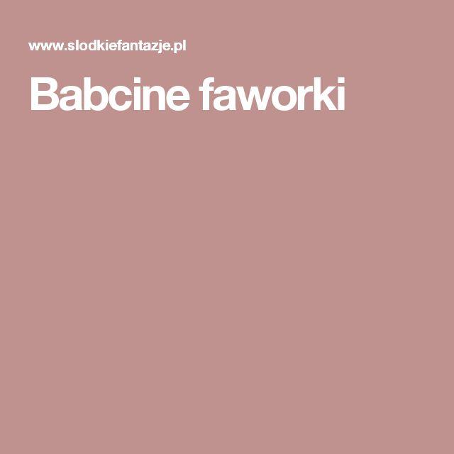 Babcine faworki