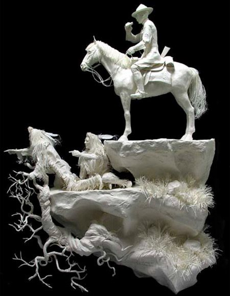 The couple Allen and Patty Eckman have been creating paper craft sculptures since back in 1987, and they have gotten darn good at it.