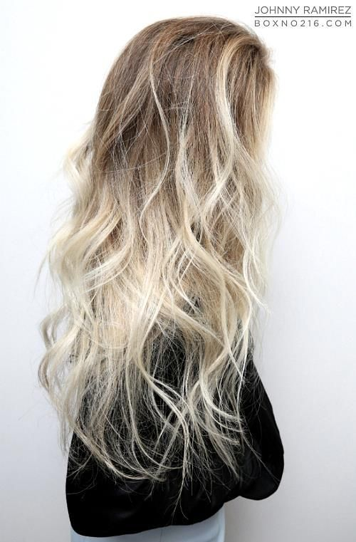 pale blonde ombre