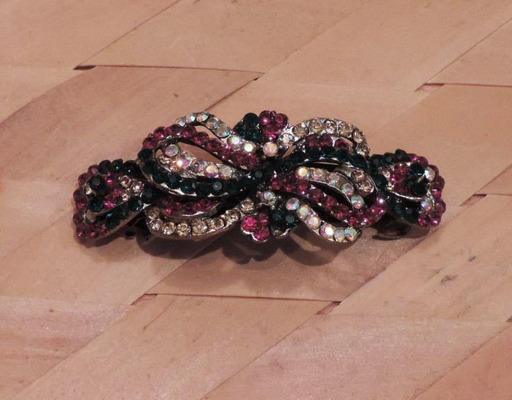 hair clip, stone studded clip, diamond, stone clip, pretty clip