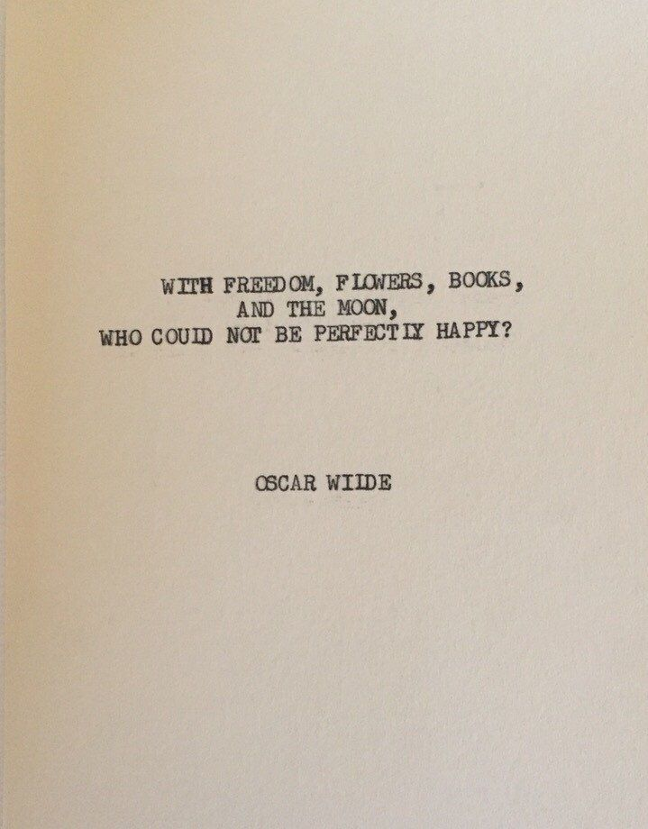 THE OSCAR WILDE: Typewriter quote on 5x7 cardstock by WritersWire on Etsy https://www.etsy.com/listing/260168484/the-oscar-wilde-typewriter-quote-on-5x7