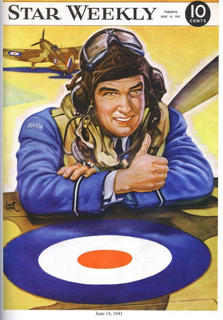 This Star Weekly cover dated June 14, 1941 shows a Canadian airman.