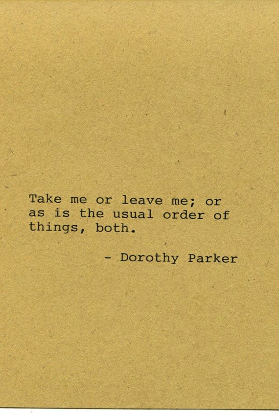 Dorothy Parker Quote Made on Typewriter by FlightOfFancyPrints