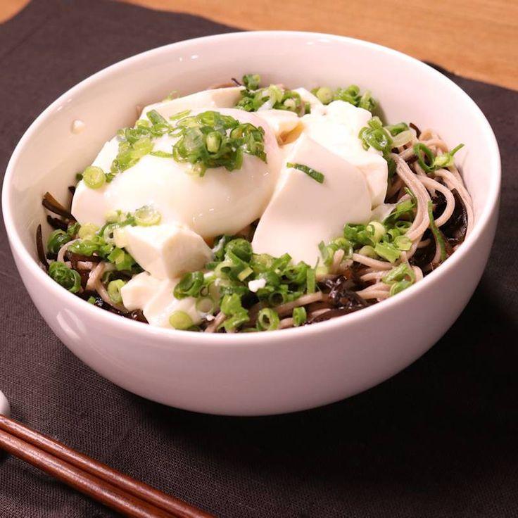 簡単!ぶっかけ豆腐の塩昆布そば | 料理動画(レシピ動画)のkurashiru [クラシル]