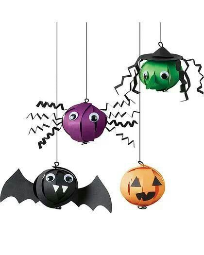 Kids craft Halloween decorations