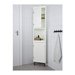 IKEA - SILVERÅN, Corner unit, white, , You can move the shelf and adjust the spacing according to your personal needs.You can mount the door to open from the right or left.Perfect in a small bathroom.