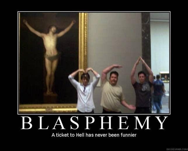 Quel blasphème, ces jeunes ne respectent donc plus rien ?